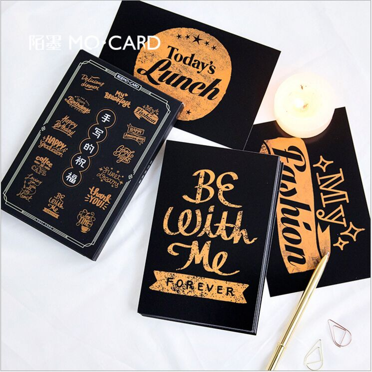30Pcs/pack Vintage manuscript Handwritten blessing Wish Greeting Card Postcard Birthday Card Envelope Gift bookmark message card 30 pcs pack creative cup of coffee shape coffee diary postcard diy envelope gift birthday card mini message card paper bookmark
