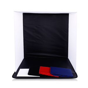Image 2 - CY in stock 50cm Portable Mini Folding Studio Photography backdrop Foldable Softbox with 4 color Backgound Soft box and Lightbox