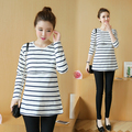 Long Sleeve Maternity Nursing Tops Pregnancy Breastfeeding Tees Shirt Clothes for Pregnant Women Wear Feedding Clothing B158