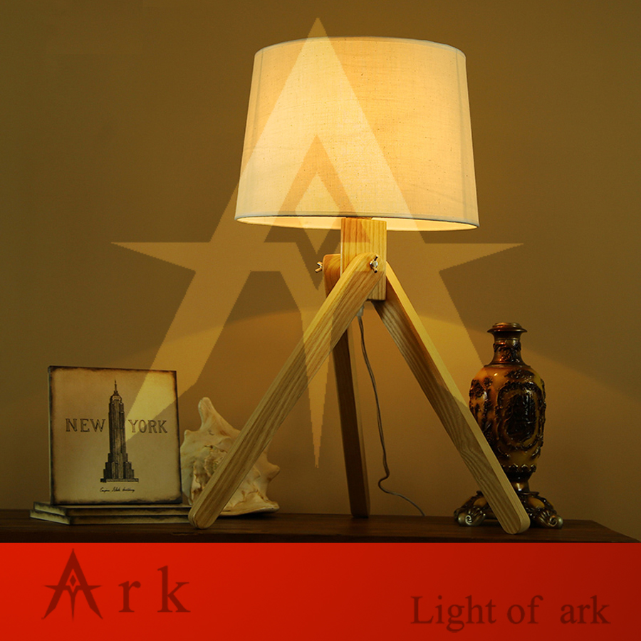 ark light Novel wooden ART Table Lamp Modern Industrial led wood table lamp cloth lamp reading Style desk lighting Bedside lamp novel art solid geometry bedroom bedside table lamps led table lamp 220v desk lights decor eye protection reading light white