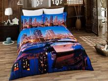 Комплект постельного белья двуспальный-евро VIRGINIA SECRET, Bamboo, город, 3D