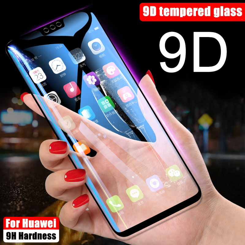 On Honor 7A 7X 7C Pro 7 9D Protective Glass for Huawei Honor 8X 8 Pro 9 Lite View 10 V10 V9 Honor9 Tempered LCD Screen Protector(China)
