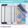 Black White Blue Front Outer Screen Glass Lens Replacement For Samsung Galaxy S5 SM-G900 G900P G900A G900R4 Glass Repair Kits