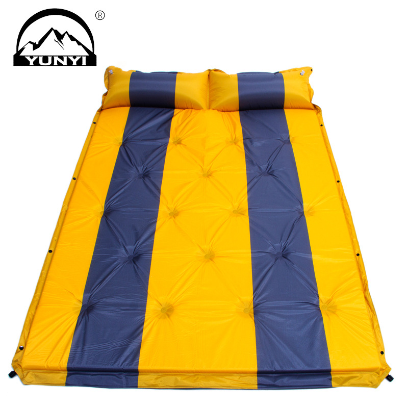 Double outdoor automatic blow-up lilo climb pad stitching MATS moistureproof mat outdoor camping mat more upset