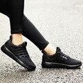Malha Ar Chaussure Femme das mulheres Flat Sapatos Casuais Confortável Respirável Estrela Gumshoes Formadores Tenis Feminino Fundo Vermelho