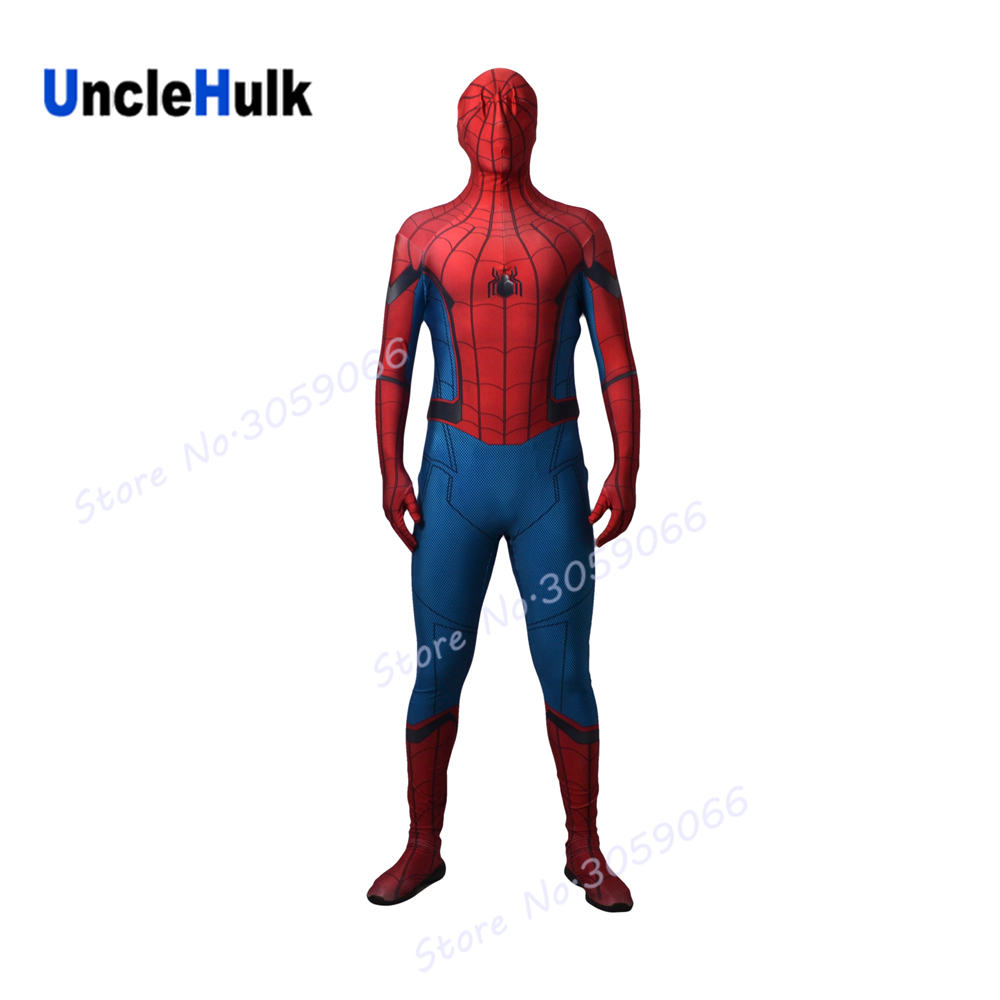 High Quality Spiderman Homecoming Costume (Tom Holland Spiderman Suit) - without Wings and lenses | UncleHulk