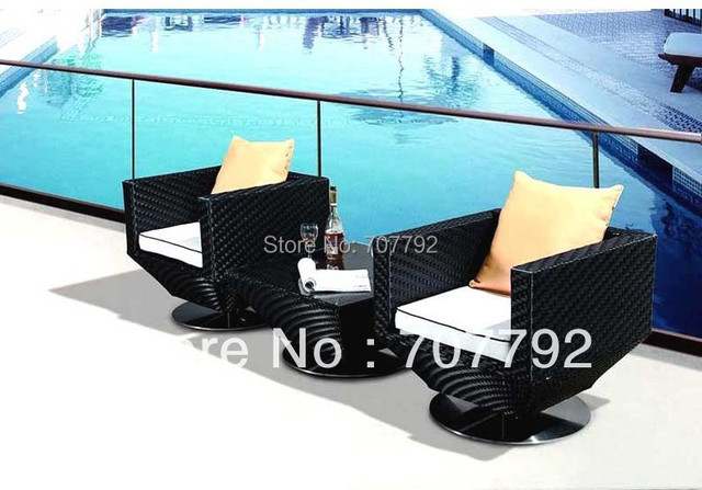 2014 Modern Bedroom Furniture Rattan Balcony Furniture 2 Seater