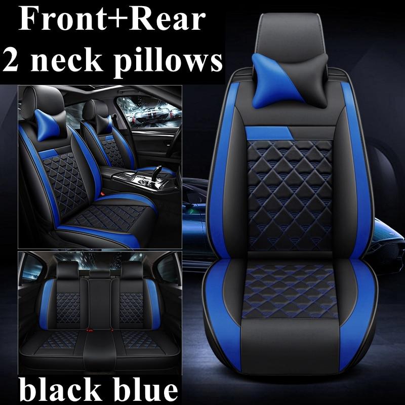 TG-S Black Gray Universal Car Seat Covers Set for KIA CARENS I II III IV