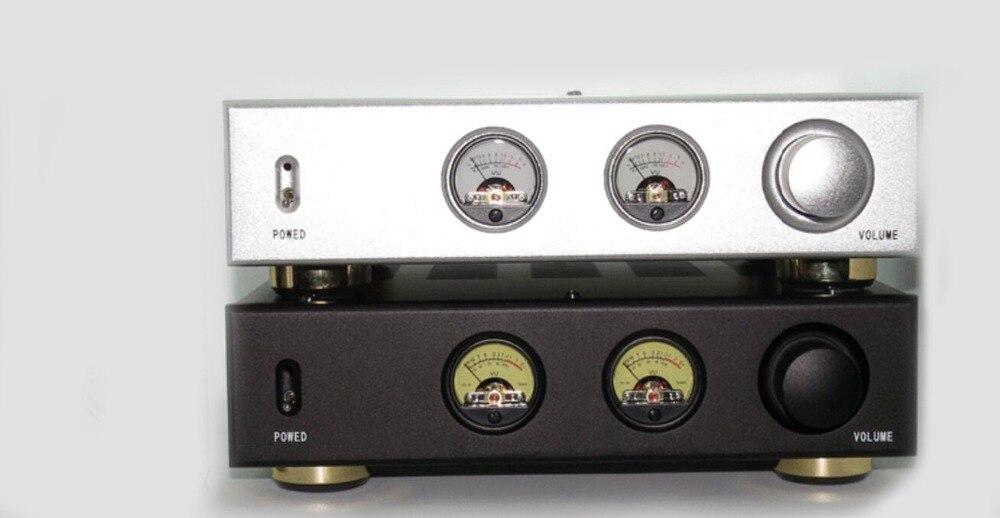 ФОТО AV Meter / Black/silver /Merge Amplifier Chassis /Iron amplifier case /AMP case Enclosure / DIY amp chassis+ audio vu meter