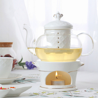North European Four Leaf Clover Afternoon Tea Cup Flower and Grass Tea Set Bone China Hand Painted Fruit Teapot Set 007