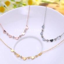 Женская цепочка из нержавеющей стали с фианитами ожерелье 5