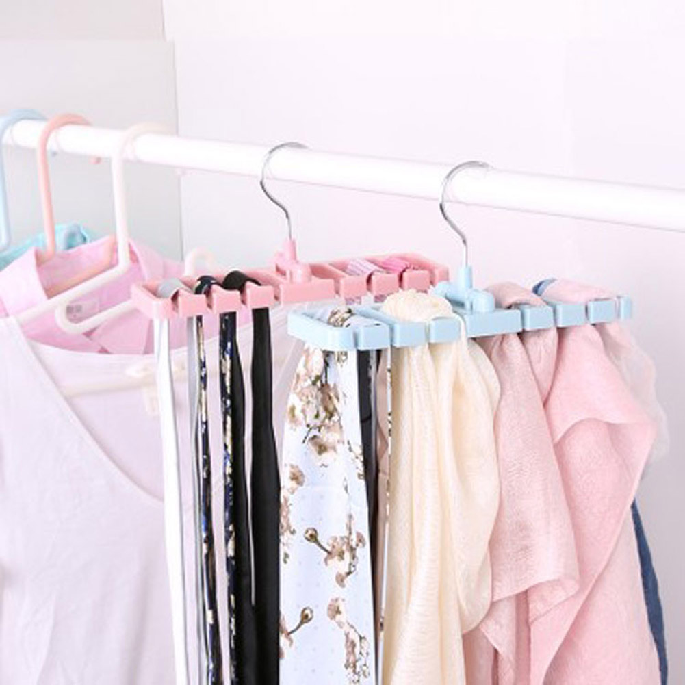Storage Rack Tie Belt Organizer Space Saver Rotating Scarf Ties Hanger Holder Hook Closet Organization Tank Tops Bra Belts Bag