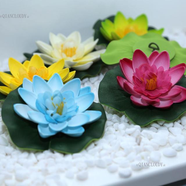 10 Pieces Artificial Fake Lotus Flowers Water Lotus Leaf Lily