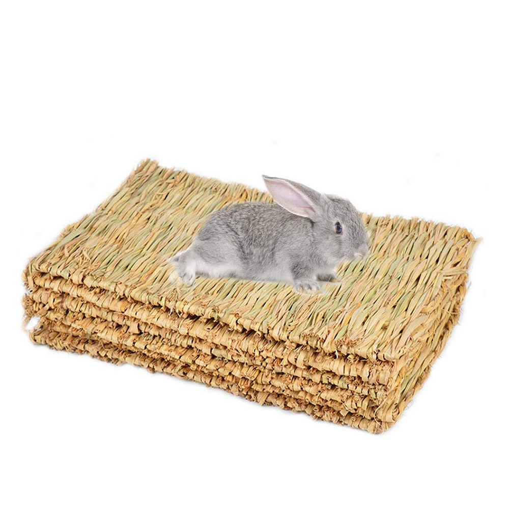 Rabbit Mat,Grass Mats For Rabbits,Safe & Edible Rabbit Mats For Cages,Bunny Chew Toys For Rabbits