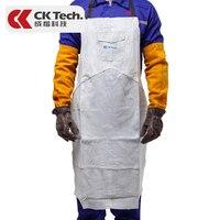 CK Tech. Professional Welding Apron Leather Cowhide Welder Protect Cloths Carpenter Blacksmith Garden Clothing Working Apron