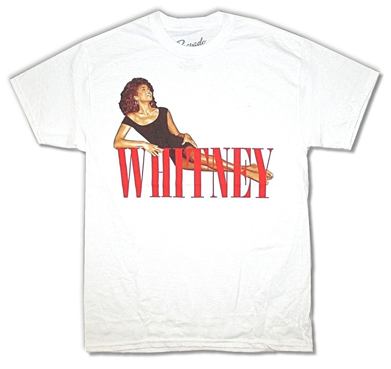 Okoufen жаркое лето забавный крутая мода печатных Мужская футболка Уитни Хьюстон укладки ...