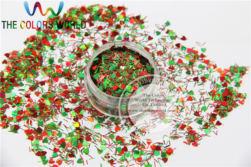 Xmas-8 Mix shiny christmas glitter holographic  colors and  shapes spangles glitter for nail  Art  or  DIY decoration 1pack=50g tcf510 solvent resistant neon rose carmine color mickey mouse shape spangles for nail polish and other diy decoration1pack 50g