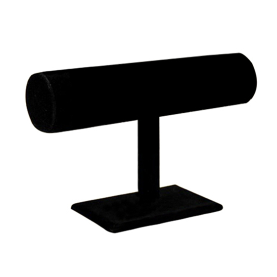 T-shaped Velvet Display Unit For Bracelets And Watches Black