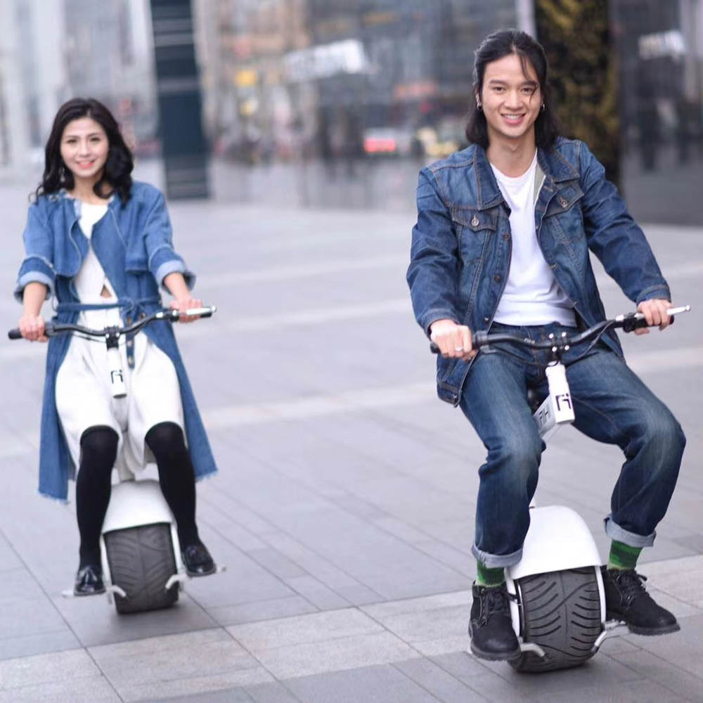Skateboard Smart One Wheel Hoverboard E scooter Self Balance FAT TIRE Electric Kick Scooter WITH SEAT