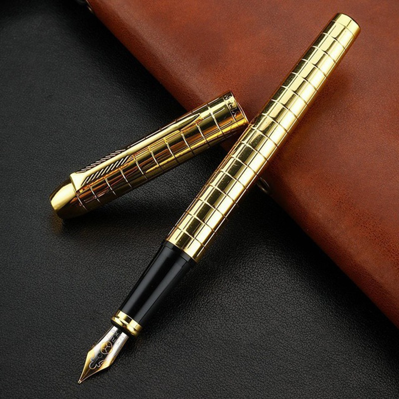 1PC Luxury Metal Fountain Pen Business High Quality Writing Signing Calligraphy Ink Pens Office School Stationary Supplies 03925