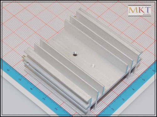 50Pcs 50mmx19mmx50mm Pure Aluminum Cooling Fin Radiator Heat Sink