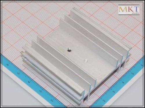 50Pcs 50mmx19mmx50mm Pure Aluminum Cooling Fin Radiator Heat Sink