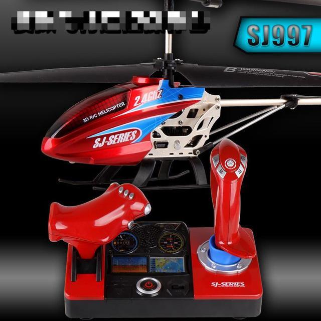 SJ997 2.4G 3.5CH helicóptero grande del rc de carga de aleación de radio control rc intermitente palabra drone rc plane juguetes con 3D como regalo de Chrismas