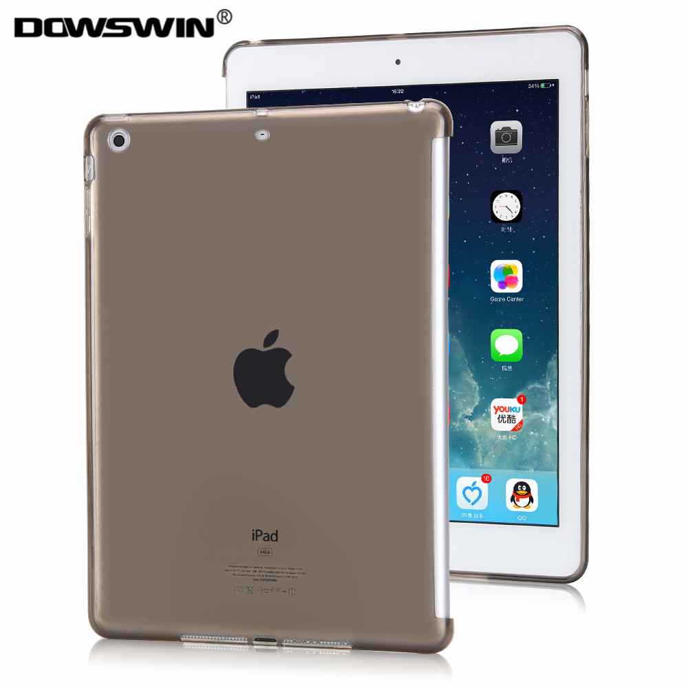 DOWSWIN case for ipad 9.7 inch 2017 TPU crystal transparent soft back cover cut edge protect for ipad 9.7 inch 2017 cases for ipad mini 4 case crystal transparent soft tpu bottom cover for ipad mini4 protective shell back protector with free gift