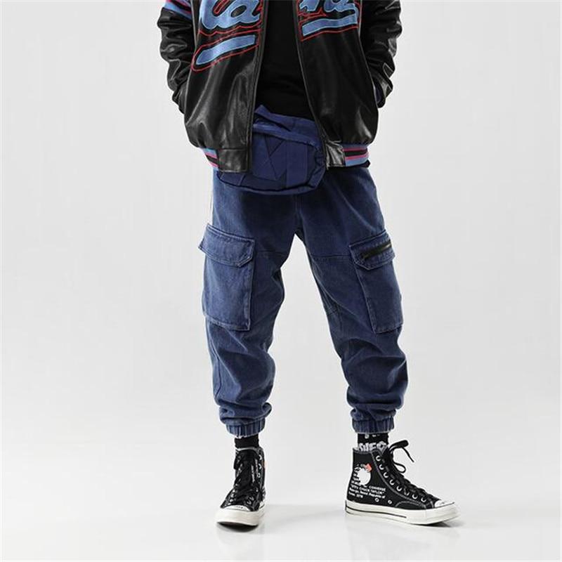 Vintage Ds50296 Patchwork Harem Vaqueros Suelta De Carga Baggy Denim 2019 Streetwear Blue Chándal Hombre Pantalones Moda Otoño wxqX6YgpU