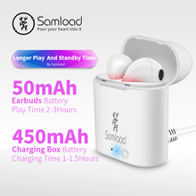 Samload Bluetooth Earphones Wireless Headphones I7 TWS Headset Stereo Music Ear bud Pods For Apple iPhone 6 7s 8 Samsung Xiaomi