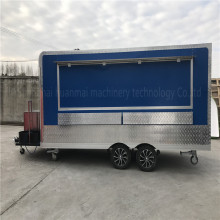 4.8 M Catering Blue Food Trucks Concession Food Trailers Catering Street Food Carts Corner filleted Design
