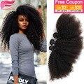 Kinky вьющиеся девы волос 3 шт роза продукты волос 7а необработанные девы волос afro kinky вьющиеся человека бразильский плетение волос расслоение