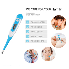 1 Pcs LCD Electronic Digital Baby Thermometer Waterproof Soft Tip Medicine Home Temperature for Kids Adult Mouth Body Fever