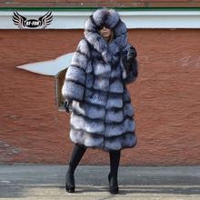 BFFUR Park z futro naturalne 2020 New Arrival prawdziwe prawdziwej skóry kurtki dla kobiet zima pałac utrzymać ciepła moda odzież Top tanie tanio CN (pochodzenie) Futra lisa High Street Grube ciepłe futro Z Kapturem Futra Przycisk zadaszone REGULAR Pełna Prawdziwe futro