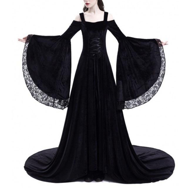 Vintage Renaissance Princess Gothic Dress Costume Medieval Gown 1970s Long Dress 2