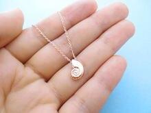 Nova pequena Concha shell pingente charme Colar de Concha Em Espiral Do Redemoinho Ariel Voz Caracol Do Mar Oceano Praia Náutico Colar de jóias