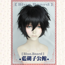Persona 5 Protagonist Cosplay Wig short Wigs Halloween Black Synthetic Hair + Free Wig Cap цена