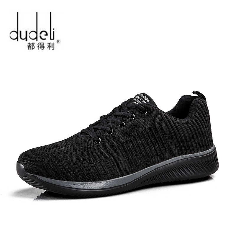 DUDELI גברים ריצת נעלי סניקרס לגברים נוח ספורט נעלי גברים מגמת קל משקל לנשימה הליכה Zapatillas