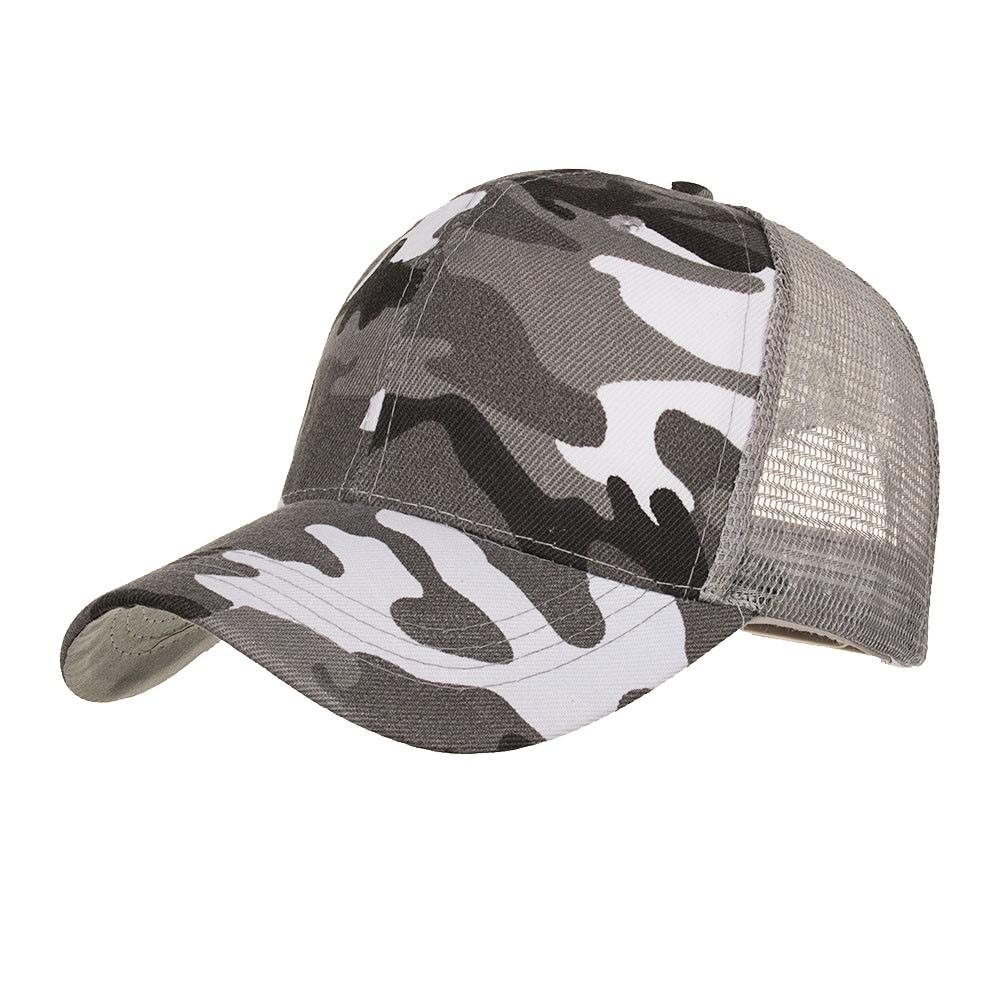 ffc7c6868 Men Baseball Caps Casual Camouflage Cap Mesh Outdoor Jungle Hunting ...