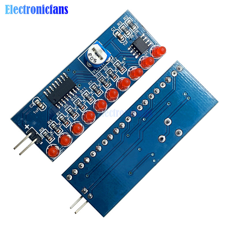 Electronic Components & Supplies Ne555 Cd4017 Running Led Flow Light Electronic Production Suite Board Diy Kit Module Capacitor Control Oscillator Clock Siganal Active Components