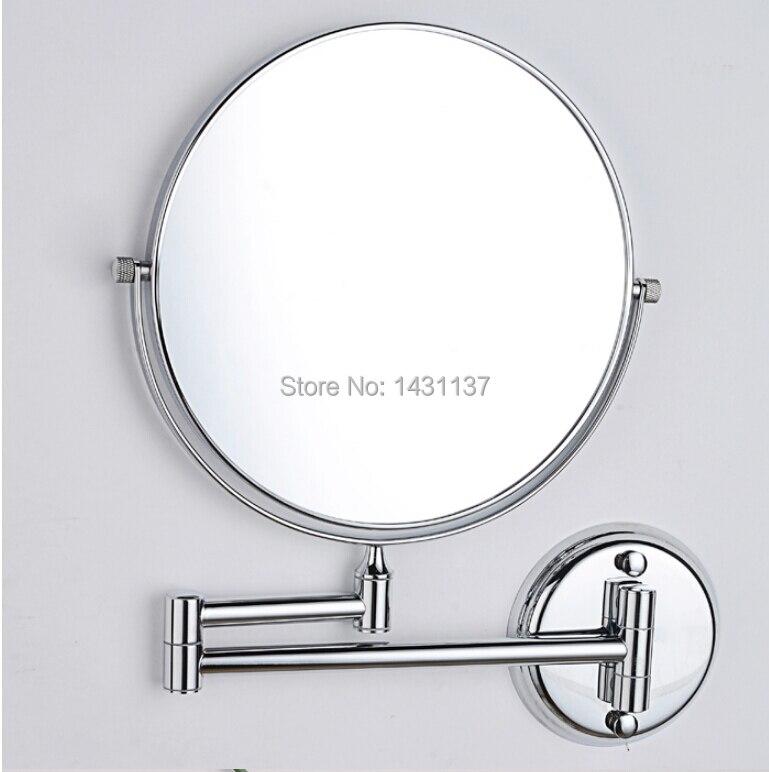 Miroir Grossissant En Chrome De Mode En Laiton Pliant Retractable A Double Face Salle De Bains Miroir D Habillage De La Salle De Bains Aliexpress