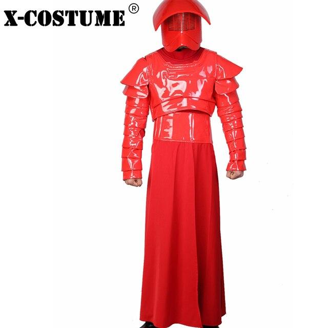 X-COSTUME Star Wars Episode VIII: The Last Jedi Movie Elite Praetorian Guard Suit Outfit PU Leather & Terylene Cosplay Constumes