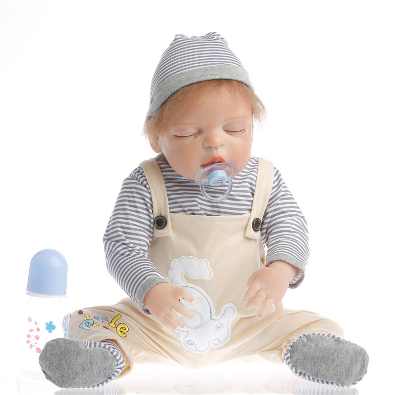55cm Full Body Silicone Reborn Baby Doll Toys Play House Newborn Boy Baby Birthday Gift Christmas Present Bathe Toy pursue 22 55 cm cloth body silicone reborn baby doll toys play house newborn boy girl baby doll birthday gift christmas present
