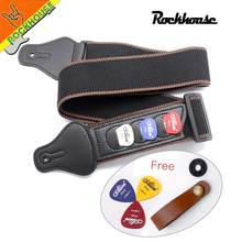 Electric Guitar Strap Acoustic Guitar Strap with 3 Guitar Picks Holder soft tough and tensile Free Shipping