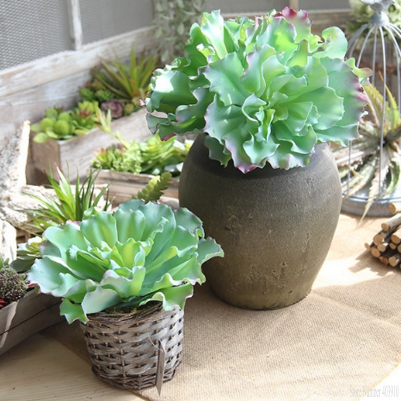 1 pcs Real touch mini palm bonsai artificial fleshiness Cactus plant decorative Queen flower for table decor Succulents Plants