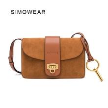 SIMOWEAR 2017 New Arrival Luxury Brand Designer Handbags Small Flap Genuine Leather Cloe Women Bag Shoulder