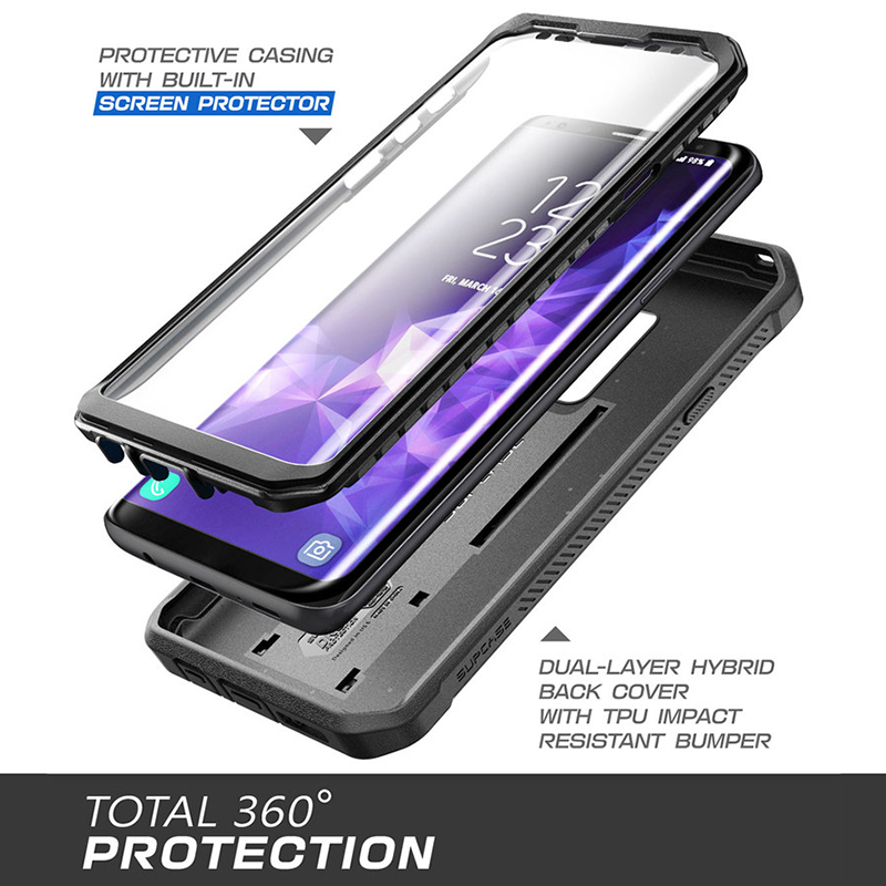 Samsung Galaxy S9+ Plus Case Unicorn Beetle PRO Series Retail Package Blue SUPCASE Full-Body Rugged Holster Case with Built-in Screen Protector for Galaxy S9+ Plus 2018 Release