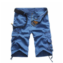 Cargo Shorts Men Summer Cotton Casual Short Pants Brand Clothing Men Cargo Shorts Military Trousers Male Loose Shorts недорого