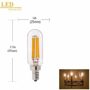 Image 2 - Grensk T8 2W 4W ניתן לעמעום Led אורות הנורה T25 צינורי רדיו LED נימה הנורה E12 110V E14 220V חם לבן 2700K מנורת אמפולה led