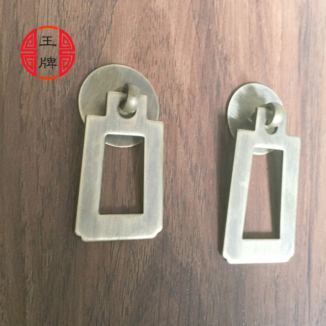 Chinese Antique Furniture Square Copper Handle Drawer Door Handle Bronze  Copper Handle Chinese Medicine Cabinet Handle
